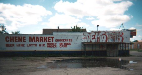 Food Insecurity in Detroit: Chene Market. Photo Credit: Nick Tobier